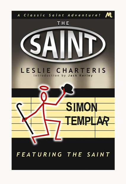 Andrew Howard designed book cover 'Featuring The Saint'