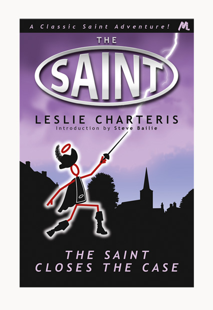 Andrew Howard designed book cover 'The Saint Closes The Case'