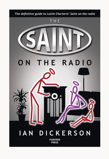 Andrew Howard designed book cover 'The Saint On The Radio'
